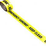 Emergency Gangway Keep Clear Tape