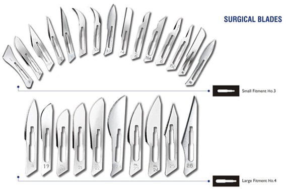 Swann Morton Standard NON STERILE Surgical Blades in Carbon Steel