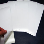 Steel Paper Adhesive White A4