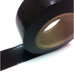 Low Tack Surface Protection Tape Plain Black 75mm x 100m