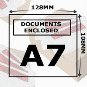 Document Enclosed Wallets A7 Printed