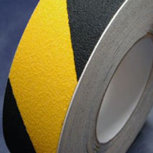 Antislip Tape Self Adhesive Safety Hazard Warning Black & Yellow 200mm x 18m
