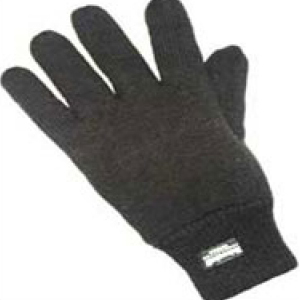 Black Thinsulate Lined Woollen Glove (12 pairs)