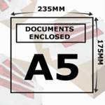 Document Enclosed Wallets A5 Printed