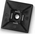 Cable Tie Bases (Pack of 1000) Black 19mm x 19mm for Cable Ties Up To 3.6mm