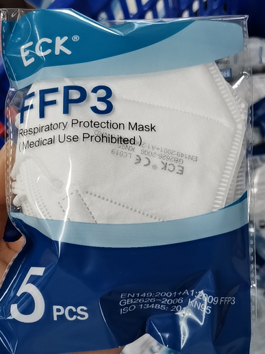 ECK FFP3 P3 Face Mask No Valve (box of 5)