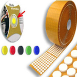 CD / DVD Dots Foam Orange 16mm x 4mm (1000 Per Roll)