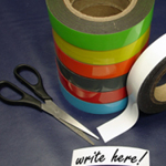 Magnetic Label Tape Green 100mm x 10m