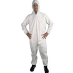 Polypropylene Disposable Coveralls White Medium