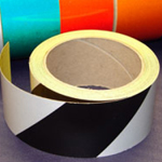 Reflective Tape Self Adhesive Black & White 50mm x 10m