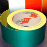 Reflective Tape Self Adhesive Green 50mm x 10m