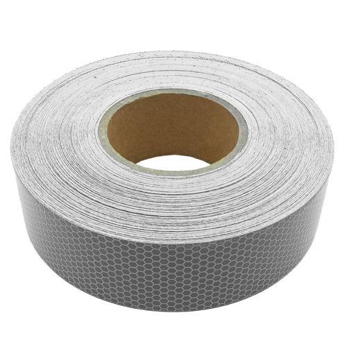 Heavy Duty Reflective Tape : Heavy duty adhesive reflective silver vinyl bikers tape