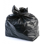 "Refuse Rubbish Waste Sacks Black Bin Bags 18"" x 29"" x 34"" 140g"