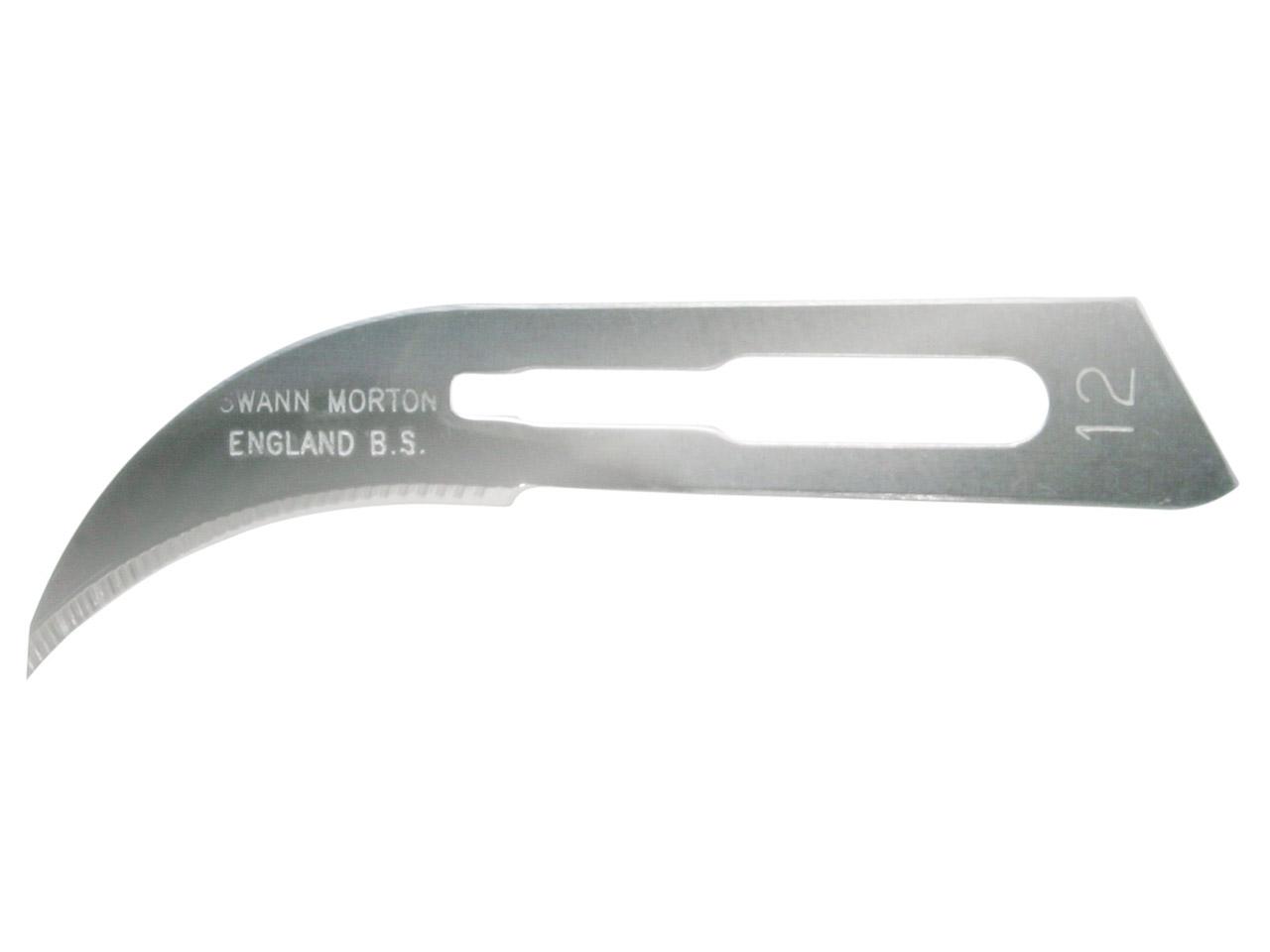 Swann Morton NON-STERILE Surgical Blades No 12 (Box of 100) Product No 0104