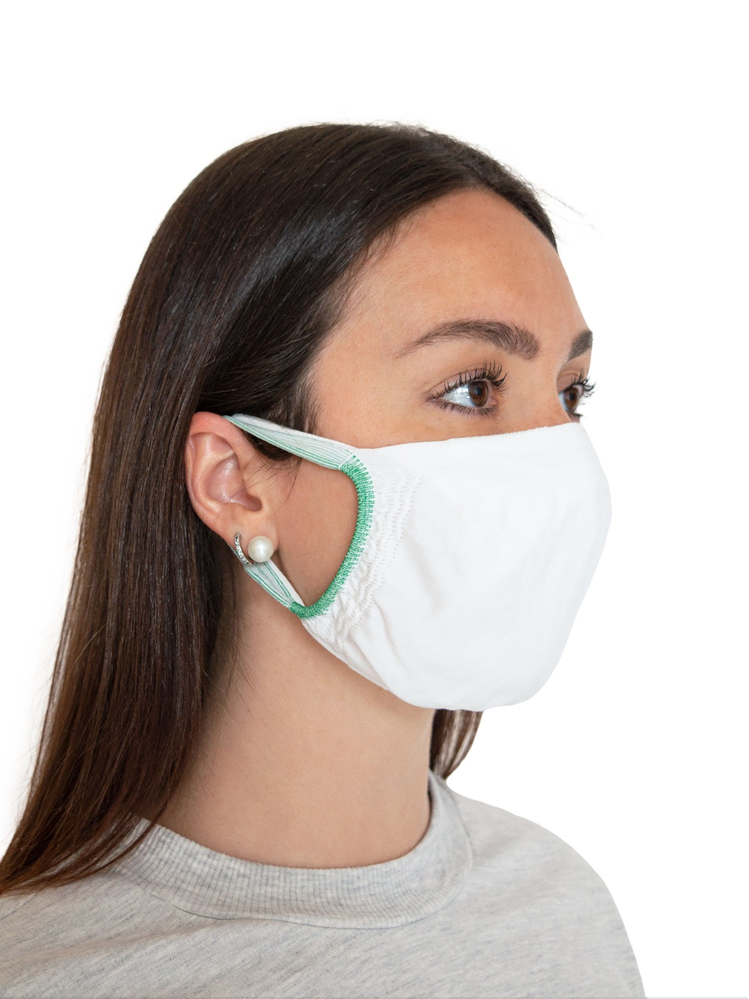 FMI Washable Reusable Face Mask / Covering Adult WHITE Antibacterial